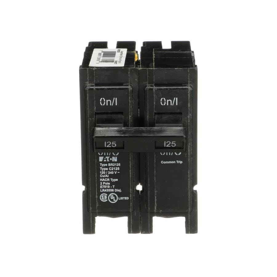 Eaton Type BR 125.0-Amp 2-Pole Circuit Breaker