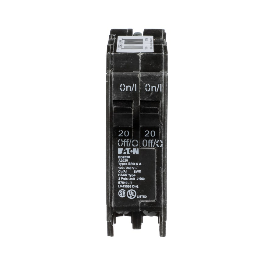 Shop Eaton Type Br 20 Amp 2 Pole Tandem Circuit Breaker At Adding A New Requires Another