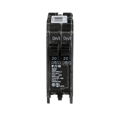 Type BR 20-Amp 2-Pole Tandem Circuit Breaker Home Fuse Box Amps on