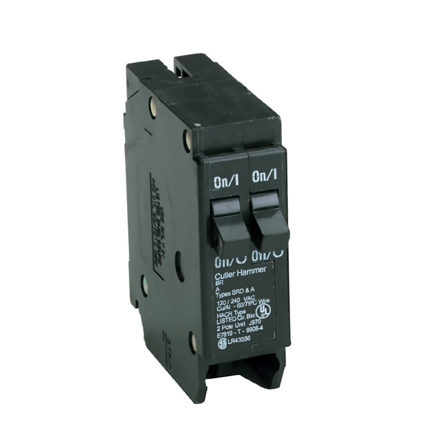 Shop Eaton Type Br 20 Amp 2 Pole Tandem Circuit Breaker At Addition Electrical Panel Box Further