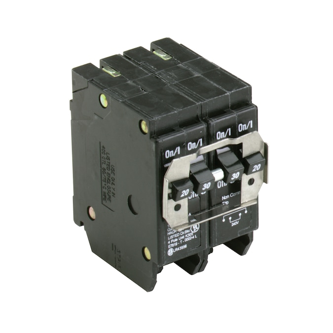 Eaton Type Br 20 Amp 30 Amp 4 Pole Quad Circuit Breaker In The Circuit Breakers Department At Lowes Com