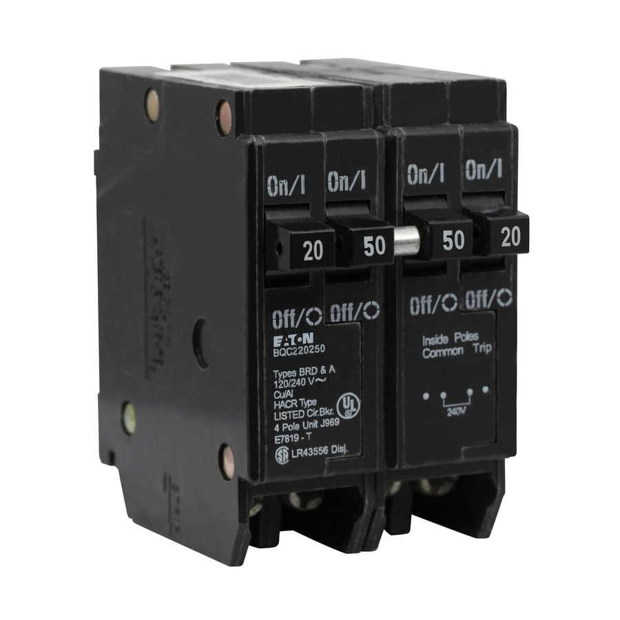 Eaton Type Br 50 Amp 2 Pole Quad Circuit Breaker At Lowes Com