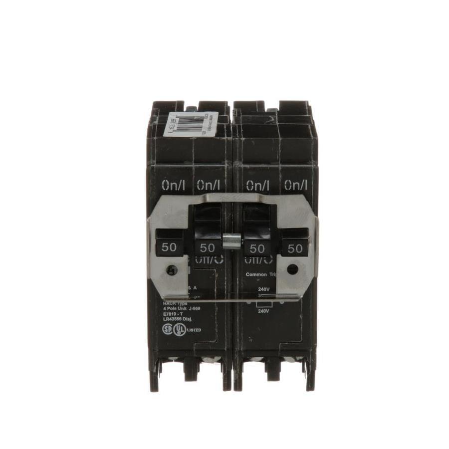 Eaton Type BR 50-Amp 4-Pole Quad Circuit Breaker