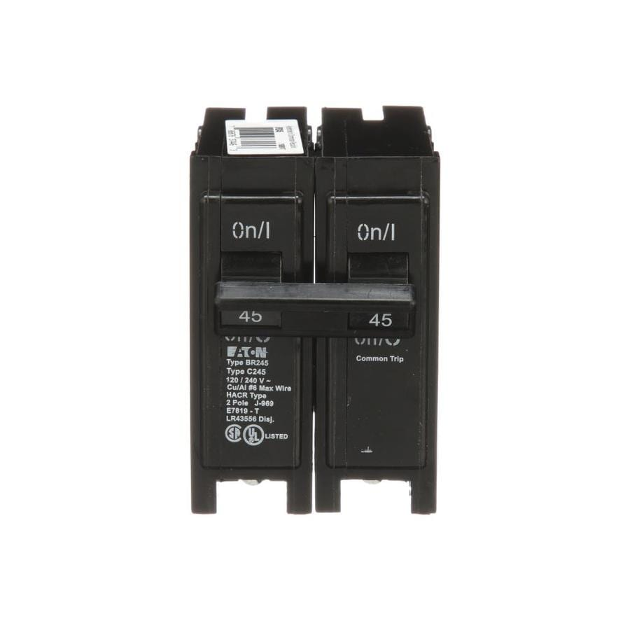 Eaton Type BR 45-Amp 2-Pole Double-Pole Circuit Breaker