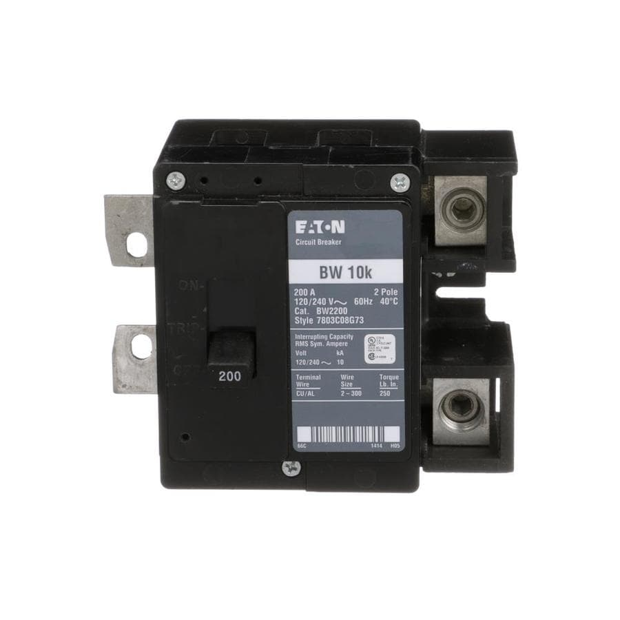 Eaton Type BR 200-Amp 2-Pole Main Circuit Breaker