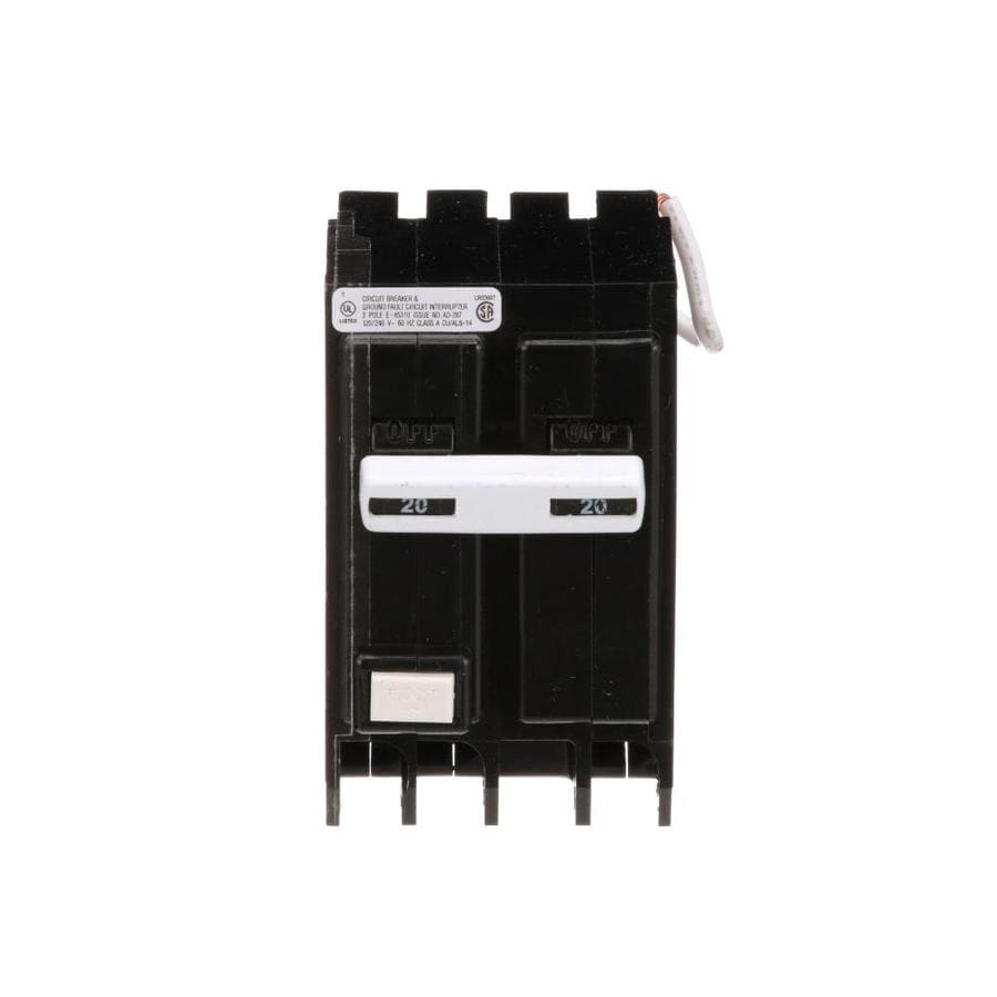 Eaton Type Br 20 Amp 2-Pole Ground Fault Circuit Breaker