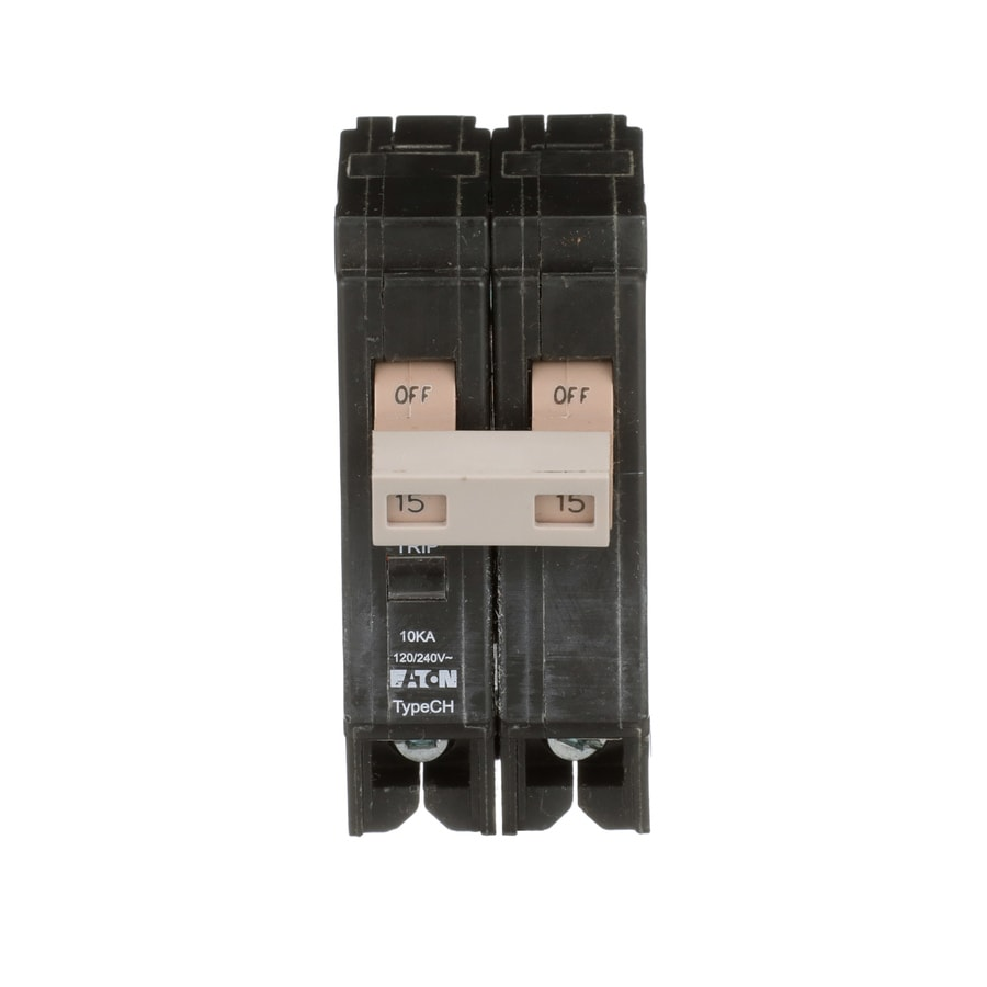 Eaton Type CH 15-Amp 2-Pole Double-Pole Circuit Breaker