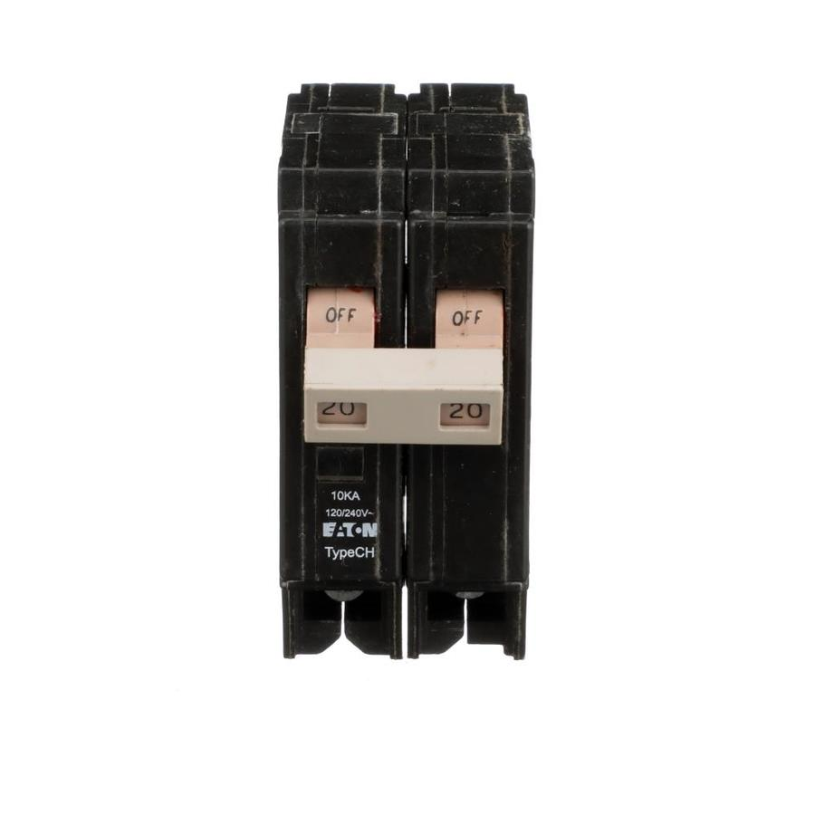 Shop Eaton Type Ch 20-Amp 2-Pole Standard Trip Circuit Breaker at ...