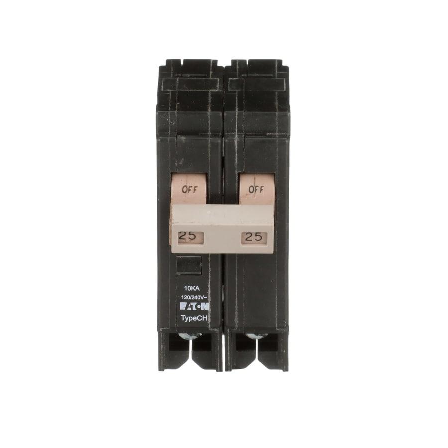 Eaton Type CH 25-Amp 2-Pole Double-Pole Circuit Breaker