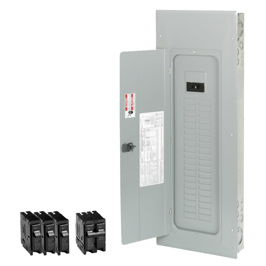 Shop Circuit Breakers Breaker Boxes Fuses At 12 Volt Fuse Box Enclosed Eaton Type Br 50 40 Space 200 Amp Main Load Center