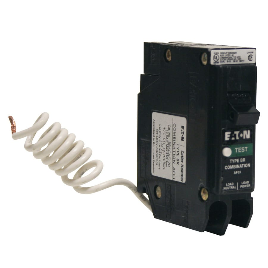 Eaton Type BR 15.0-Amp 1-Pole Combination Arc Fault Circuit Breaker
