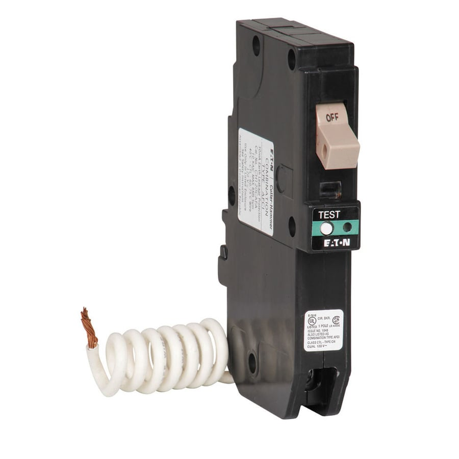 Circuit Breakers Breaker Boxes Fuses At Lowescom 4 Pole Dc Wiring Diagram Eaton Type Ch 20 Amp 1 Combination Arc Fault