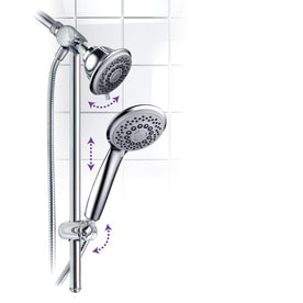 HotelSpa Chrome 30 Spray Shower Head And Handheld Shower Combo