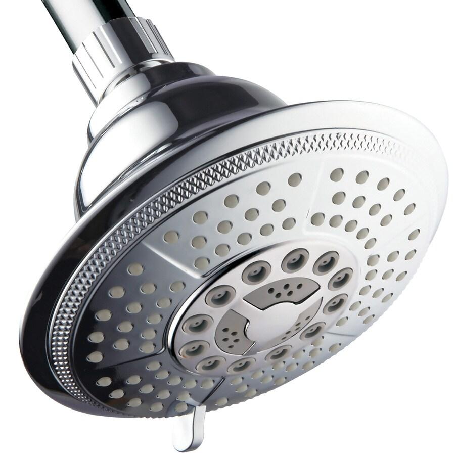 HotelSpa 5-in 2.5-GPM (9.5-LPM) Chrome 7-Spray Rain Showerhead