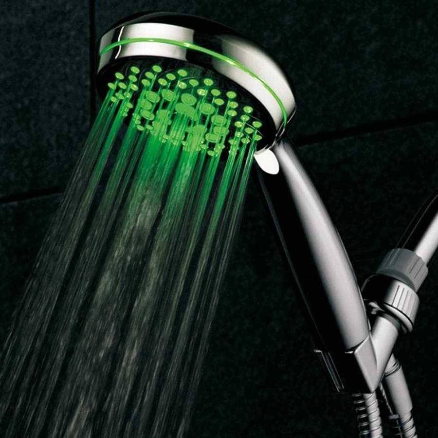 HotelSpa Led 4.25-in 2.5-GPM (9.5 Lpm) Chrome 7-Spray Hand Shower