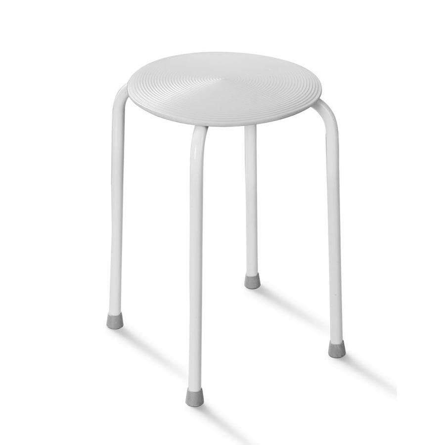 Shop HotelSpa White Composite Freestanding Shower Seat at Lowes.com