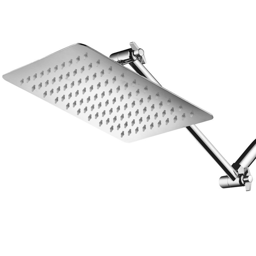 Shop HotelSpa Giant Chrome 1-Spray Shower Head at Lowes.com