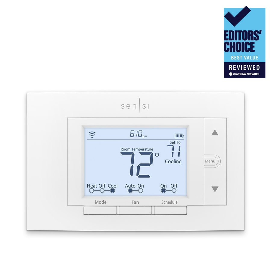Shop Emerson White Sensi Thermostat With Wifi Compatibility At To Put In A New Programmable But I Don39t Have Enough Wires