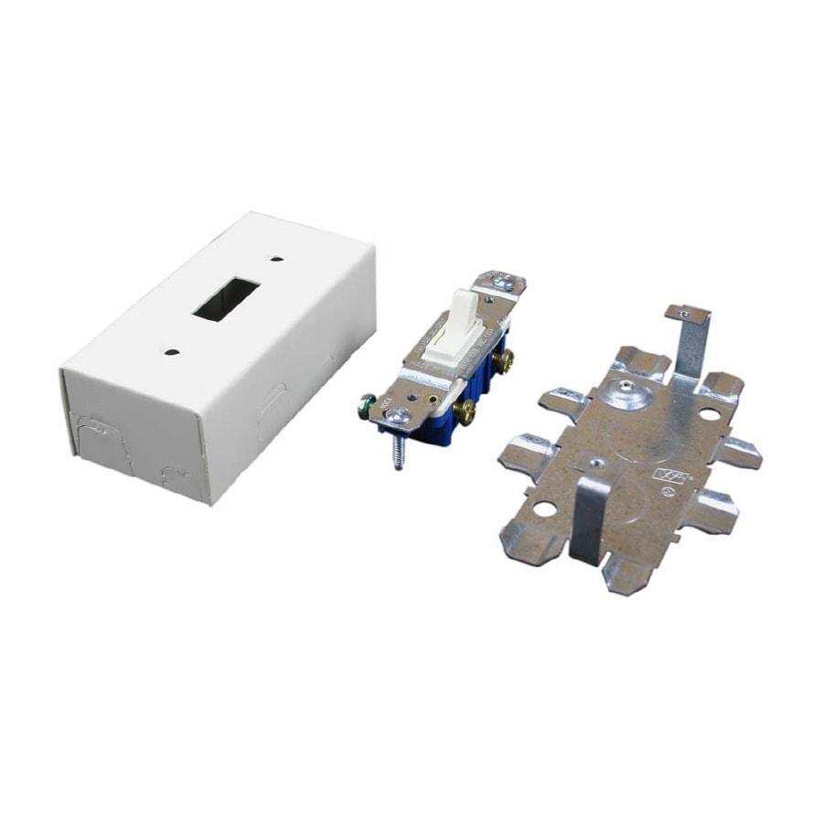 Wiremold 500/700 3-Piece Ivory Raceway Switch Box Kit