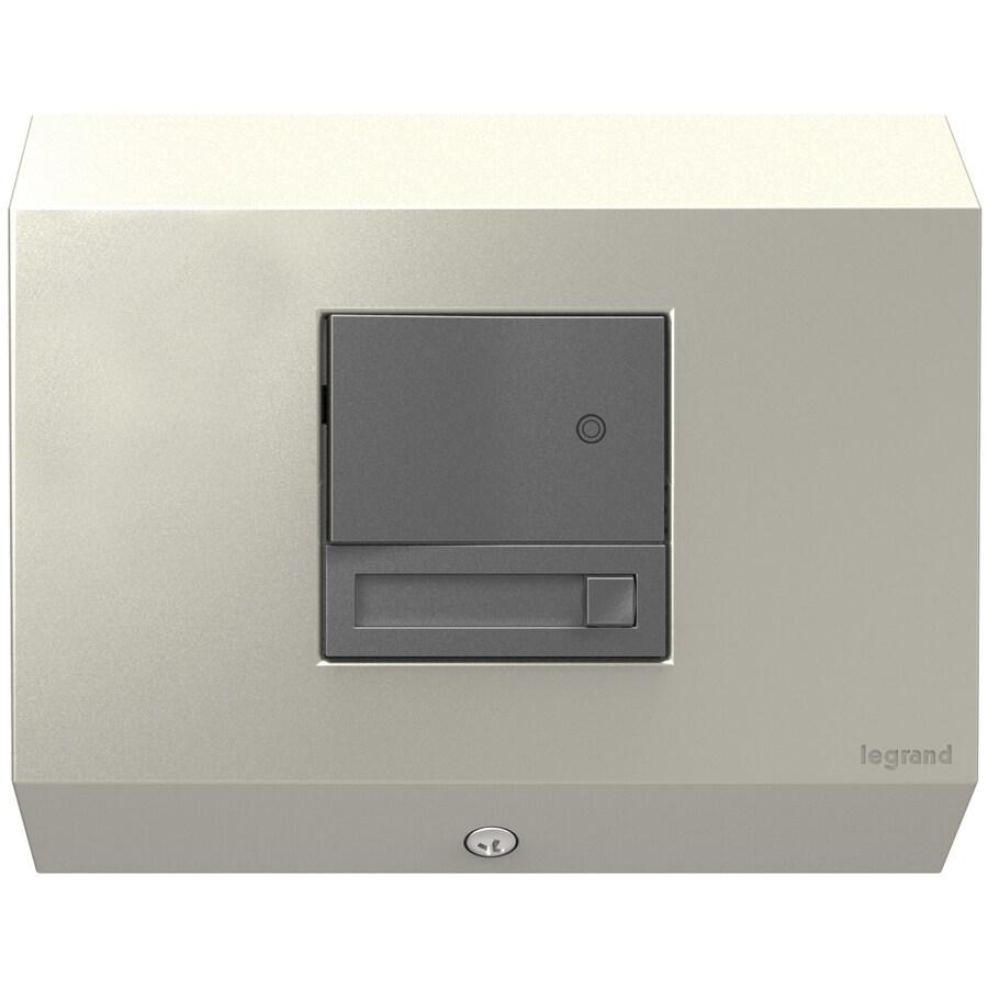 Legrand Adorne Titanium 15-Amp 3-Wire Grounding Under Cabinet Control Box