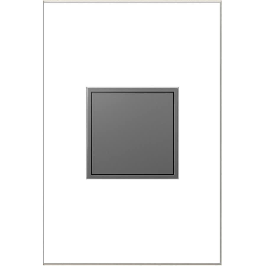 Legrand Adorne 15-Amp 125-Volt Magnesium Indoor Square Wall Tamper Resistant Outlet
