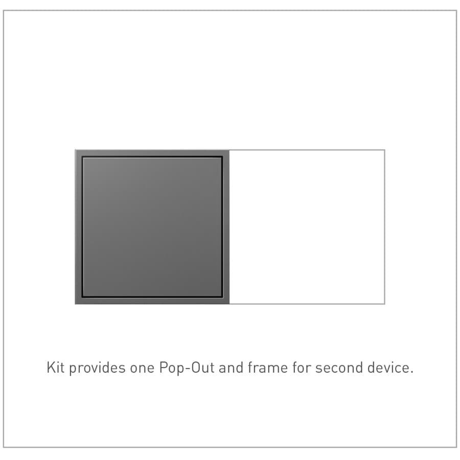 Legrand adorne Pop-Out 15-Amp 125-Volt Magnesium Indoor Duplex Wall Tamper Resistant Outlet