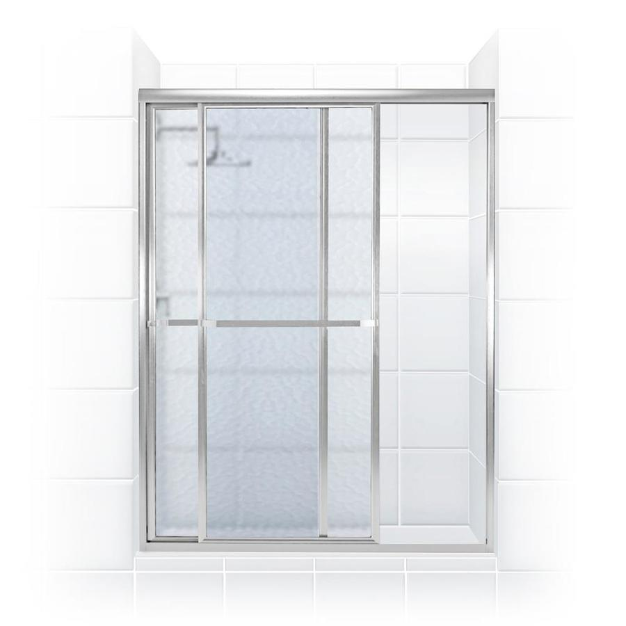 Coastal Shower Doors Paragon 70 3125 In H X 40 In To 41 5 In W Framed Sliding Chrome Shower Door Frosted Glass In The Shower Doors Department At Lowes Com