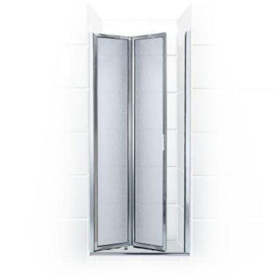 Coastal Shower Doors Paragon 66 In H X 23 In To 23 75 In W Framed Bifold Chrome Shower Door Frosted Glass In The Shower Doors Department At Lowes Com