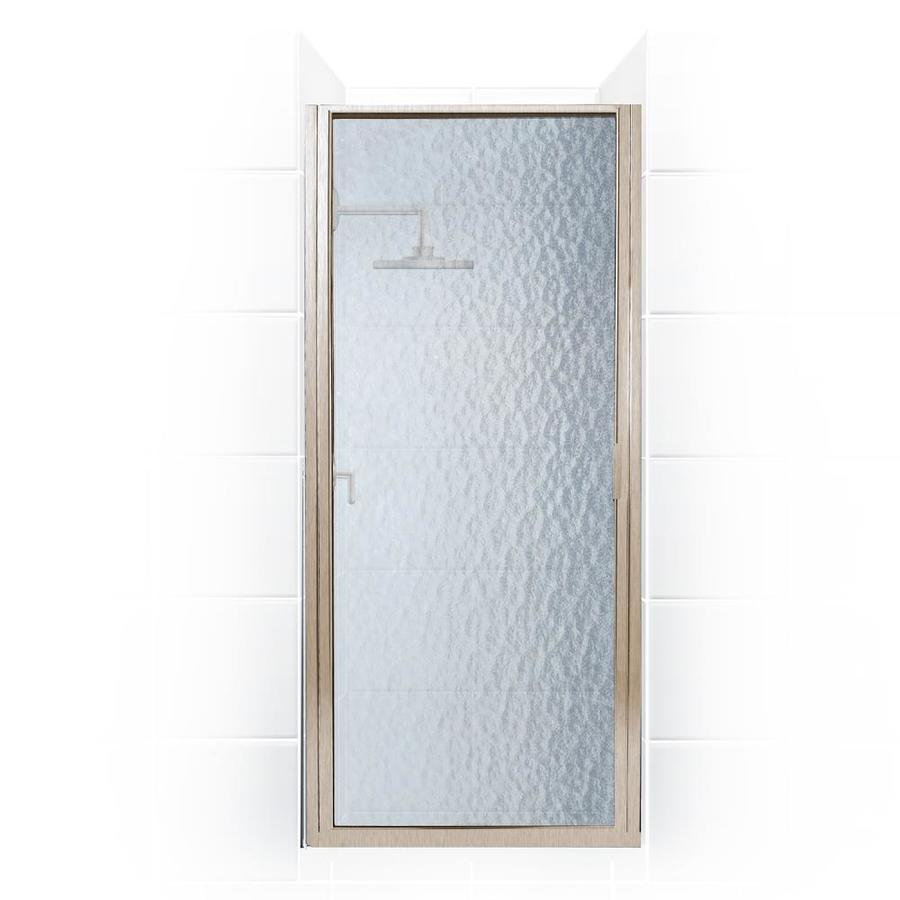 Coastal Shower Doors Paragon 74 In H X 24 In To 24 75 In W Framed Hinged Brushed Nickel Shower Door Frosted Glass In The Shower Doors Department At Lowes Com