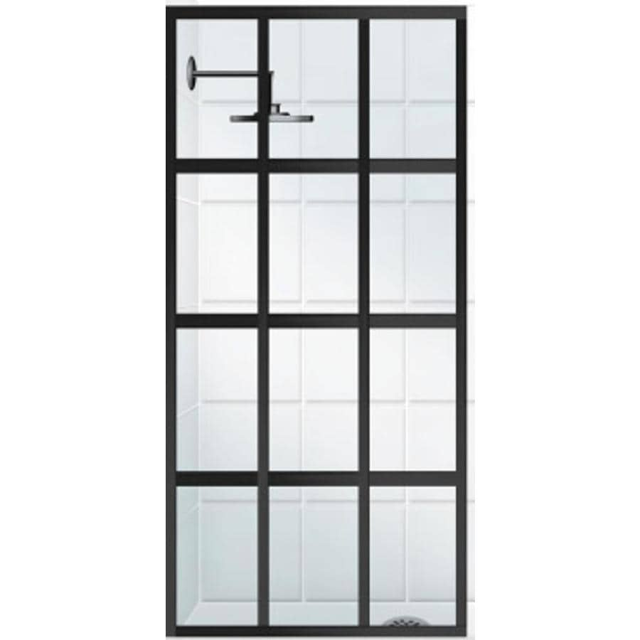 Coastal Shower Doors Gridscape Series 36 In To Framed Black Bronze Fixed