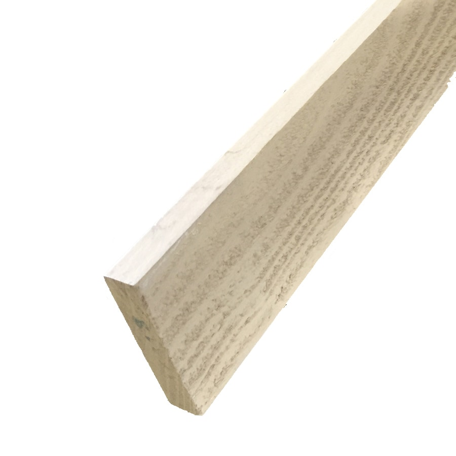 Woodtone (Common: 1-in x 3-in x 10-ft; Actual: 0.625-in x 2.4375-in x 10-ft) Forest Trim Finger Joint Primed Cypress Board