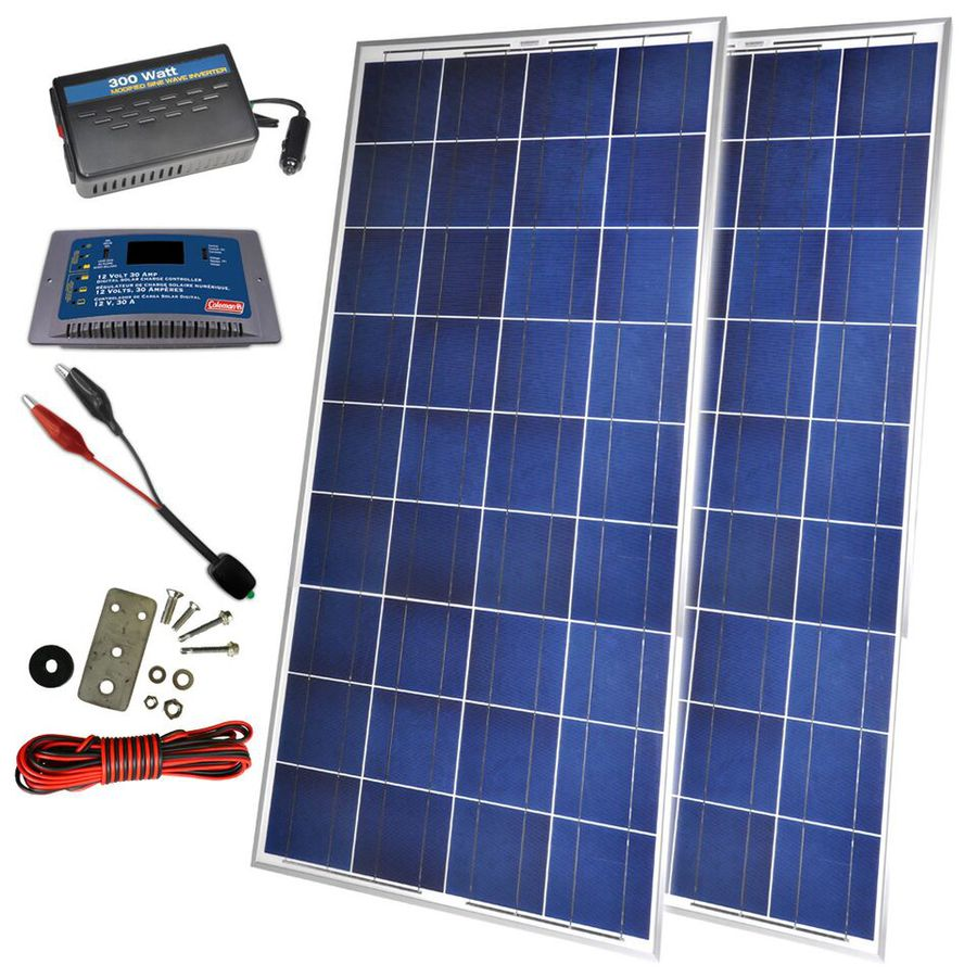 Coleman 26.57-in x 58.82-in x 1.61-in 300-Watt Portable Solar Panel
