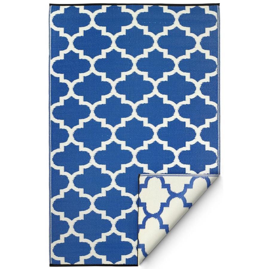 Fab Habitat Tangier - Regatta Blue & White (6' x 9')