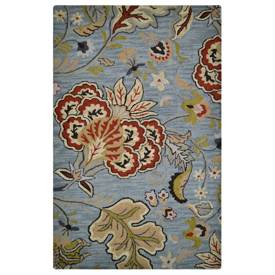 allen + roth Red Rectangular Indoor Handcrafted Area Rug (Common: 5 x 8; Actual: 5-ft W x 8-ft L)