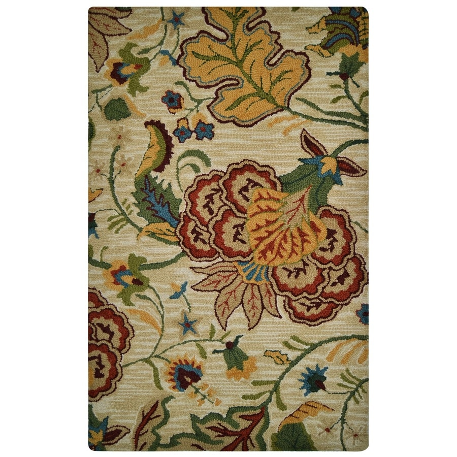 Fab Habitat Red Rectangular Indoor Handcrafted Area Rug (Common: 8 x 10; Actual: 7.5-ft W x 9.5-ft L x 0-ft Dia)