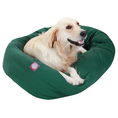 Amazing Majestic Pet Products Green Poly Cotton Twill Oval Dog Bed Creativecarmelina Interior Chair Design Creativecarmelinacom