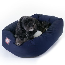 Pet Life Blue Plaid Nylon Fleece Rectangular Dog Bed Small In The Pet Beds Department At Lowes Com