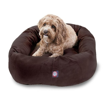 Super Majestic Pet Products Chocolate Faux Suede Oval Dog Bed For Creativecarmelina Interior Chair Design Creativecarmelinacom