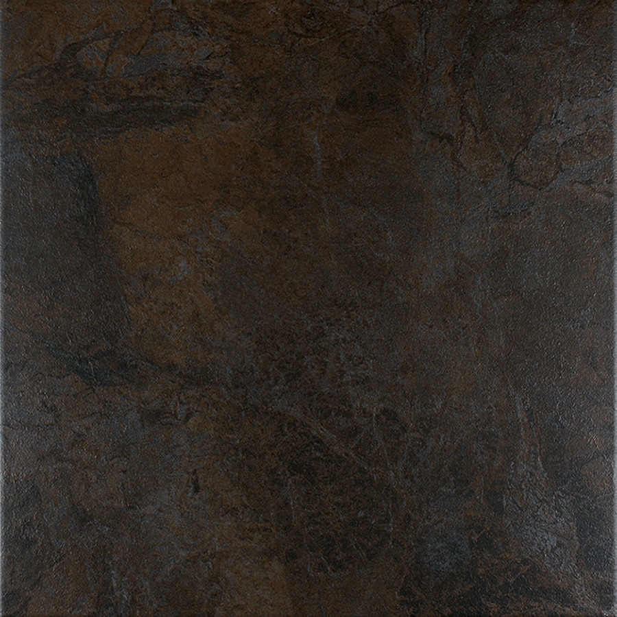 FLOORS 2000 Oriente 6-Pack Nero Porcelain Floor and Wall Tile (Common: 18-in x 18-in; Actual: 17.75-in x 17.75-in)
