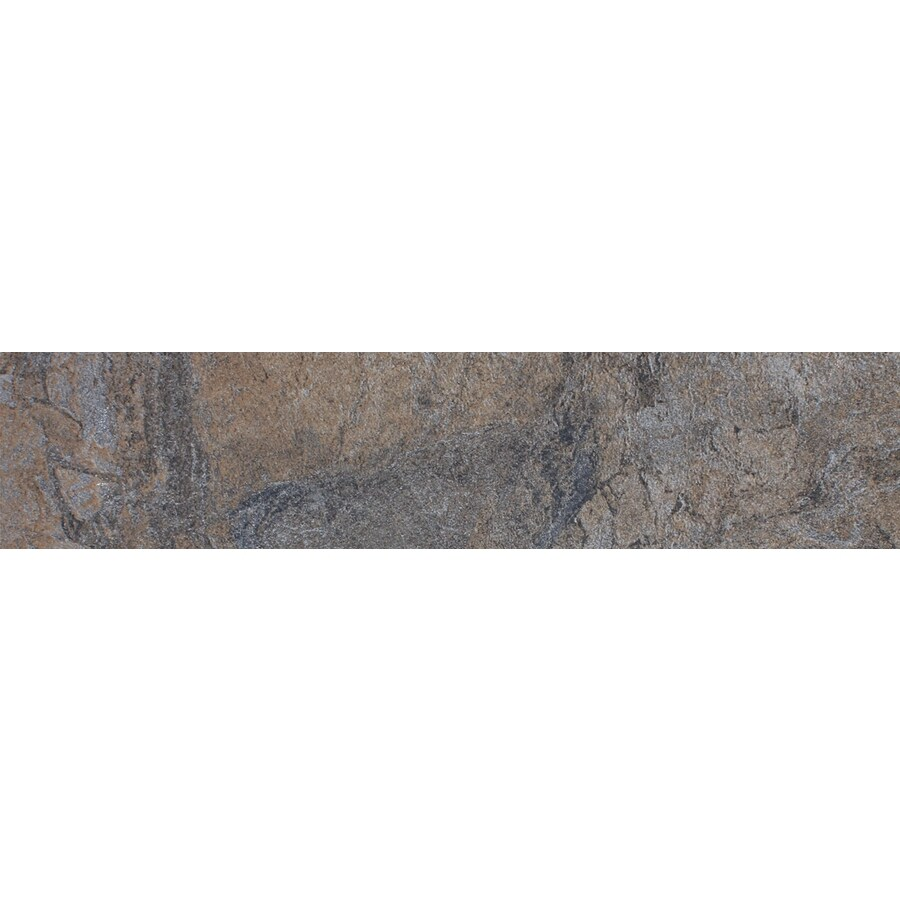 FLOORS 2000 Oriente Nero Porcelain Bullnose Tile (Common: 3-in x 18-in; Actual: 3-in x 17.75-in)