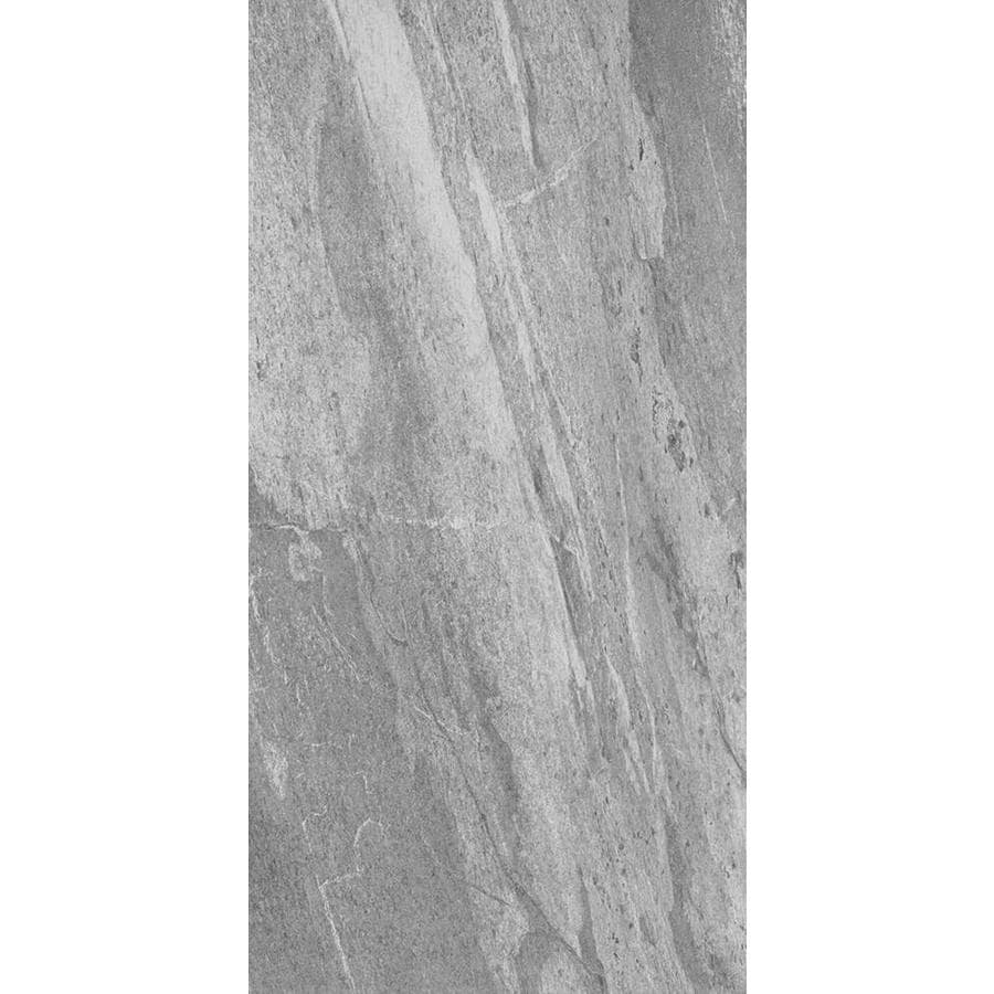 FLOORS 2000 Bis 8-Pack Graphite Porcelain Floor and Wall Tile (Common: 12-in x 24-in; Actual: 23.86-in x 11.85-in)