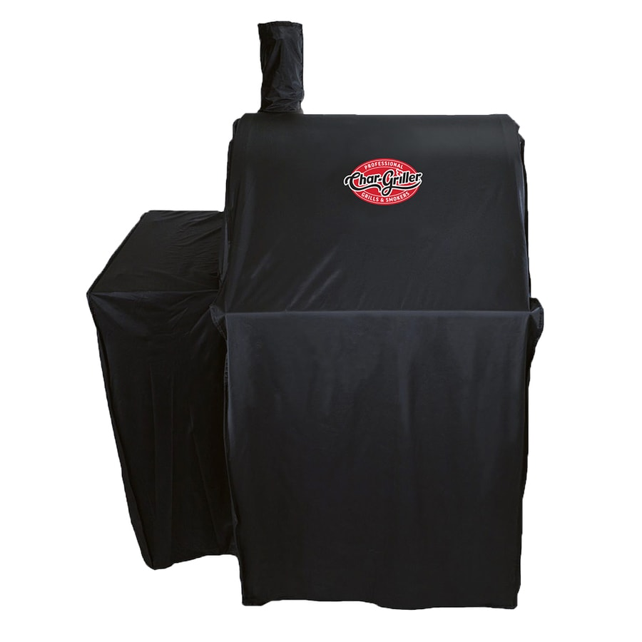 Char-Griller Wrangler Grill Cover 35-in x 51-in Black Polyester Charcoal Grill Cover