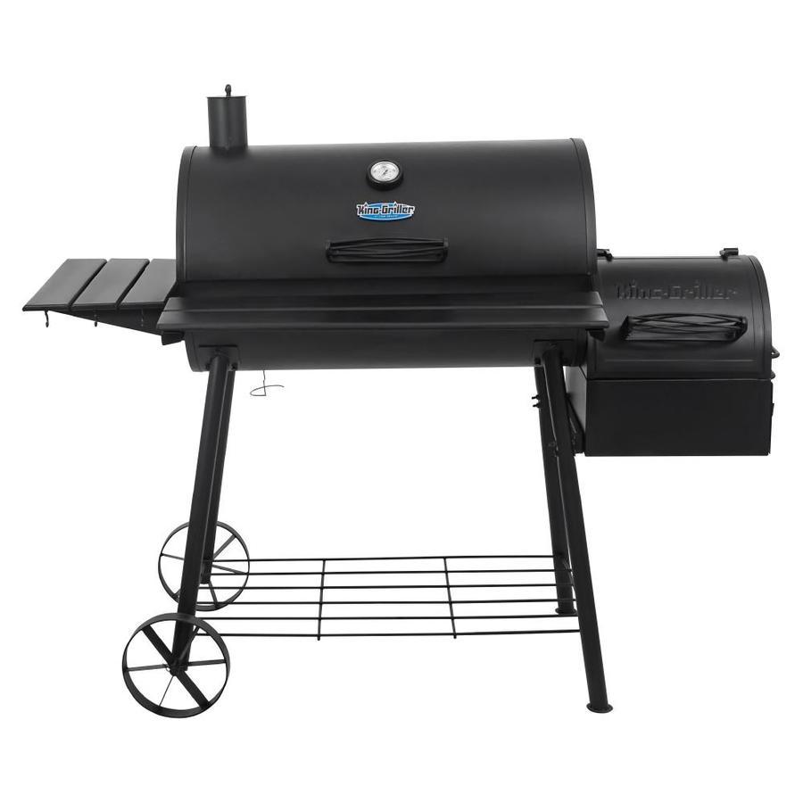 Char-Griller 30-in Black Barrel Charcoal Grill