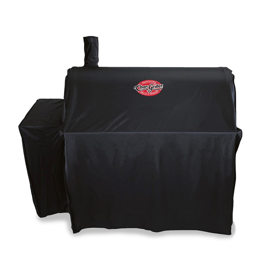 Char-Griller Outlaw Charcoal Grill Cover 48-in x 51-in Black Polyester Charcoal Grill Cover