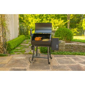 Char Griller Wood Fire Pro 580 Sq In Black Pellet Grill At