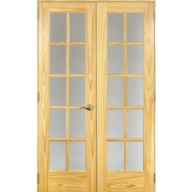 Reliabilt Unfinished Clear Gl Wood Pine French Door Common 24 In X 80
