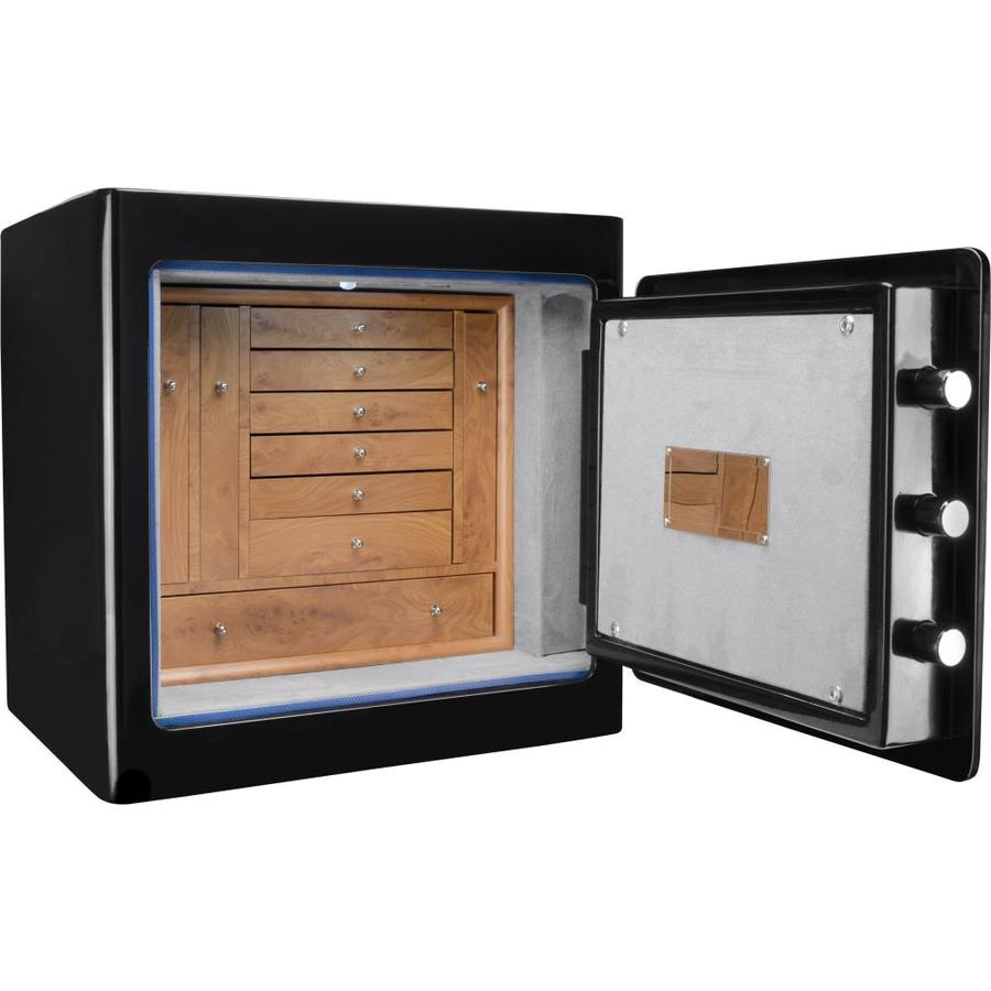 stunning Lowes Fireproof Safe Part - 19: Barska Black Keypad Jewelry Fireproof Safe Light Interior