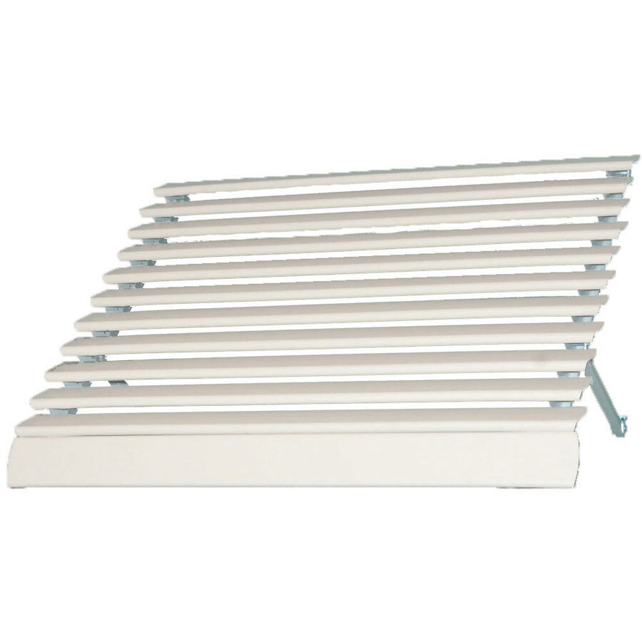 Americana Building Products 84-in Wide x 21-in Projection White Solid Open Slope Low Eave Window Awning