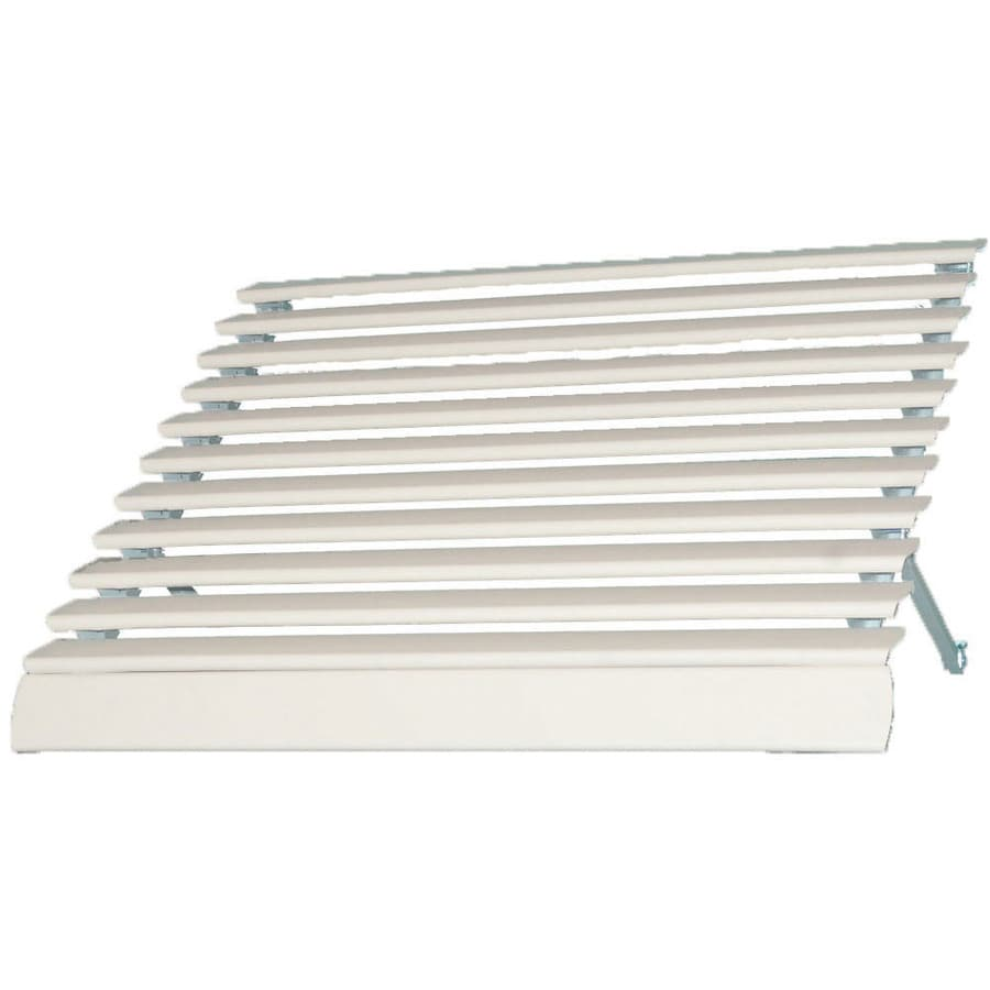 Americana Building Products 72-in Wide x 25-in Projection White Solid Open Slope Low Eave Window Awning