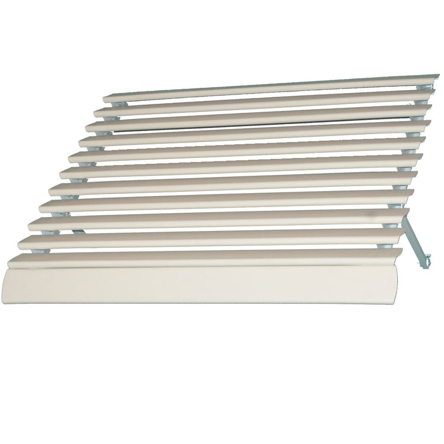 Americana Building Products 66-in Wide x 21-in Projection Ivory Solid Open Slope Low Eave Window Awning